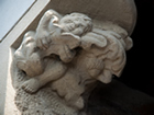 Cherub carving made in stone